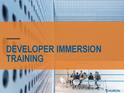 Developer Immersion Training