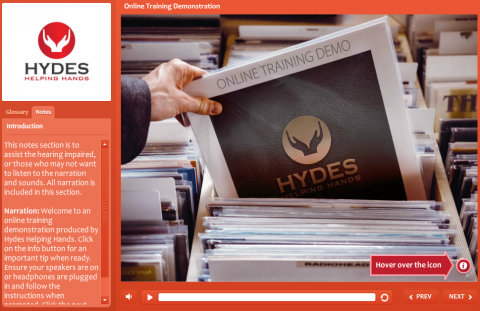 Hydes Helping Hands - eLearning Demo