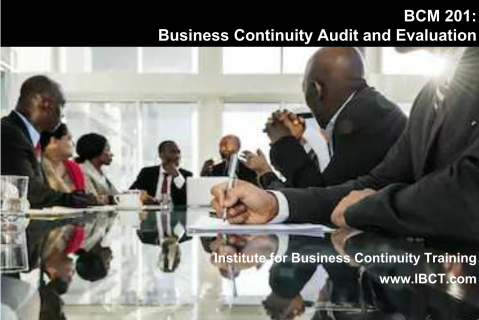 BCM201 Diploma in Business Continuity Audit and Evaluation (BCM201)