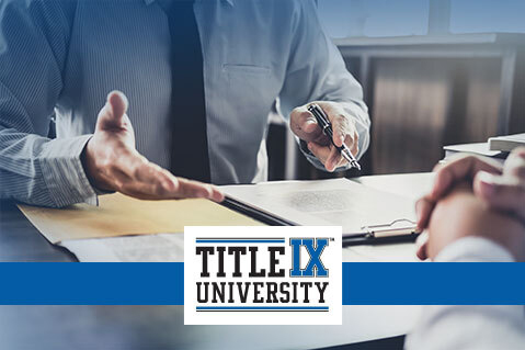 Title IX Decision Maker - Level 1 (Higher Ed.) (IND-TIXHE003)