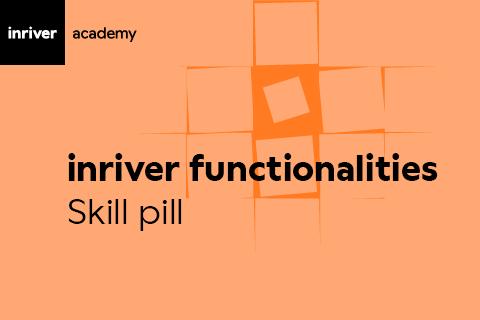 inriver functionalities overview