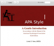 APA Style: A Gentle Introduction