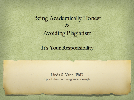 Being academically honest and avoiding plagiarism