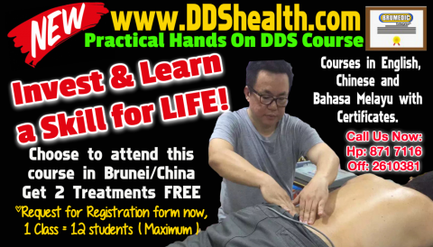DDS HEALTH THERAPY HANDS ON TRAINING IN BRUNEI (2-DDS-HANDSON-BRU)