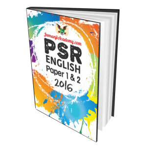 PSR Past Years Papers - English Language 2016 (PSR-ENG16)