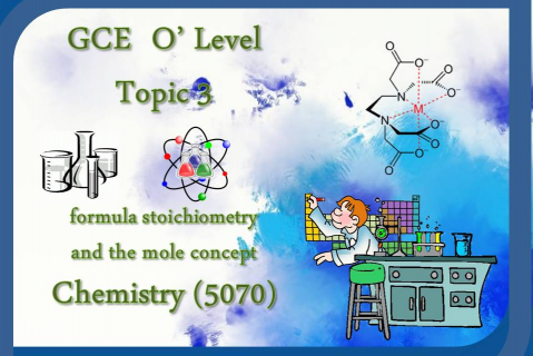 Year 9 - Chemistry - Topic 3 - Formula, Stoichiometry and the Mole concept (YR9/CHEM/N.AB/T03)