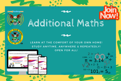 Additional Mathematics - GCE 'O' Level (4037)