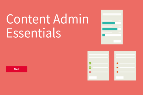 Content Admin Essentials (v10)