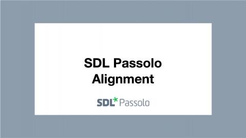 SDL Passolo Alignment