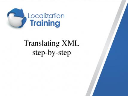 XML in translation - step-by-step (English) (EN_XML)