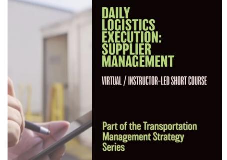 Daily Logistics Execution: Supplier Management