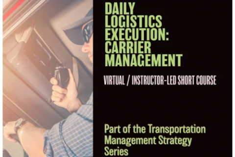 Daily Logistics Execution: Carrier Management