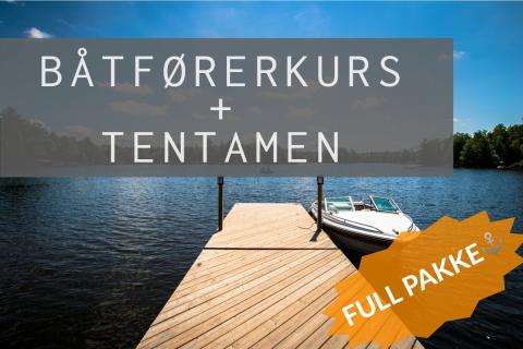 Full pakke: Båtførerkurs + Tentamen
