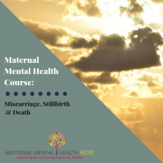 Maternal Mental Health: Miscarriage, Sillbirth & Infant Death (for CME for MDs)