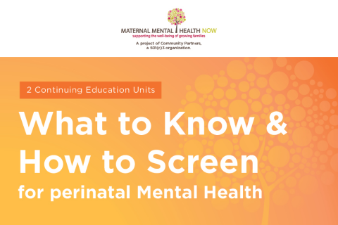 Maternal Mental Health: What To Know & How to Screen