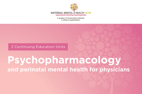 Psychopharmacology and Perinatal Mental Health for Physicians: What to Know, How to Help