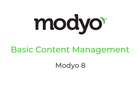 Modyo 8 - M201 - Basic Content Management
