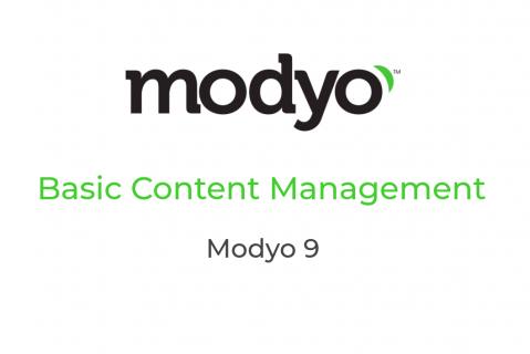 M201 - Basic Content Management