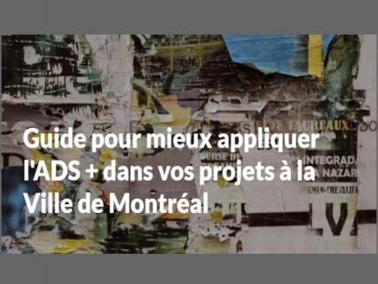 Guide pour mieux appliquer l'ADS + dans vos projets à la Ville de Montréal (FV1V0080)