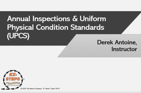 Annual Inspections & Uniform Physical Condition Standards (UPCS) (catalog)