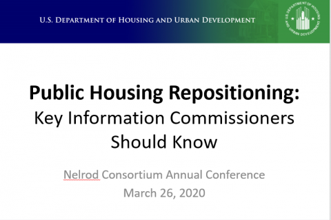 Public Housing Repositioning-Key Information Commissioners Should Know