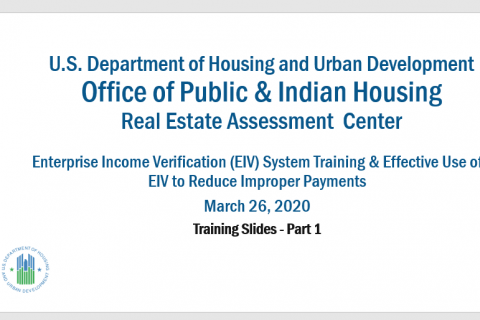 HUD EIV & IVT Guidance for Effective Use