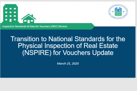 National Standards for the Physical Inspection of Real Estate (NSPIRE)