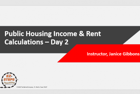 Public Housing Income & Rent Calculations Training Day 2 (catalog)