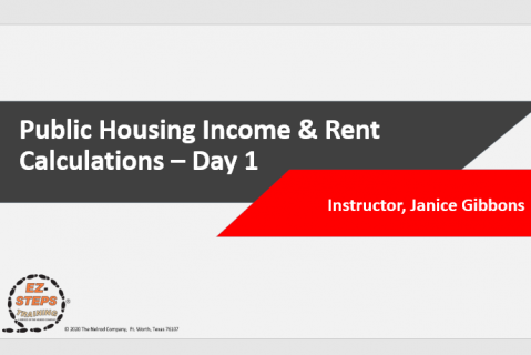 Public Housing Income & Rent Calculations Training Day 1 (catalog)