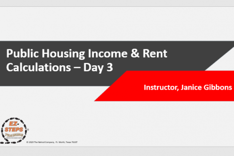 Public Housing Income & Rent Calculations Training Day 3 (catalog)