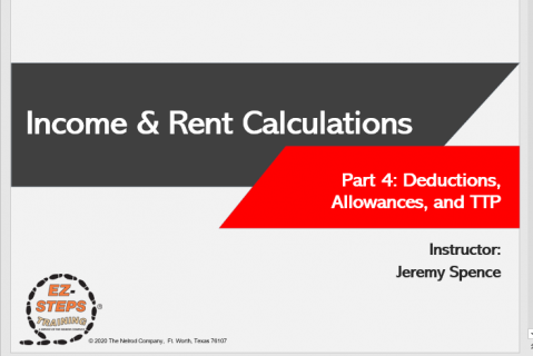 Section 8 HCVP Income & Rent Calculations Day 4 (catalog)