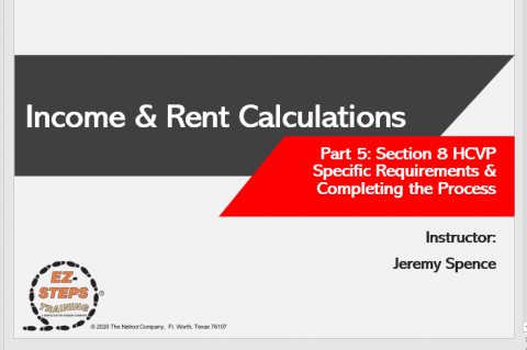 Section 8 HCVP Income & Rent Calculations Day 5 (catalog)