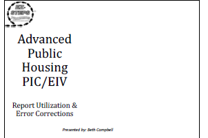 Advanced Public Housing PIC/EIV