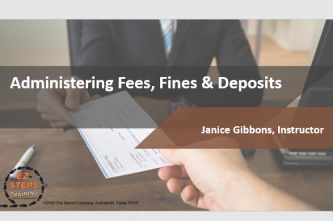 Administering Fees, Fines, & Deposits (catalog)
