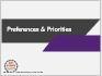 Adopting, Changing, Managing Preferences & Priorities (catalog)