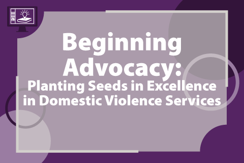 Beginning Advocacy: Planting Seeds in Excellence in Domestic Violence Services