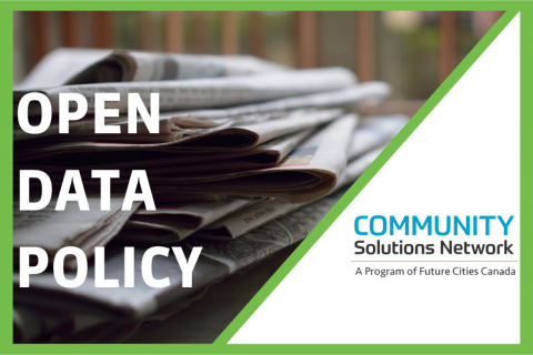 Developing an Open Data Policy (D200)