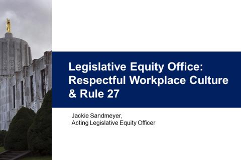 Legislative Branch Personnel Rule 27, Harassment-Free Workplace