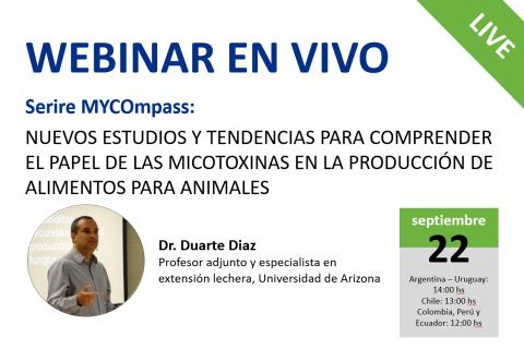 09/22 Serie MYCOmpass: Nuevos estudios y tendencias para comprender el papel de las micotoxinas en..