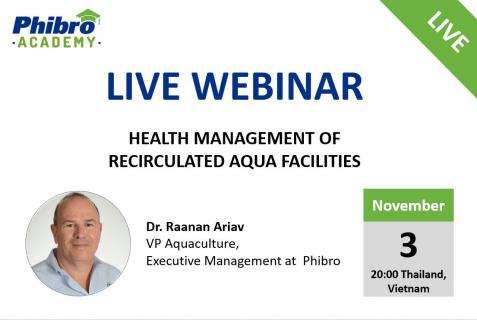 Health management of recirculated aqua facilities
