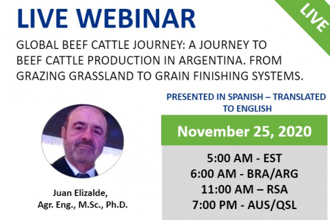 11/25/20 Global Beef Cattle Journey:  A Journey to meat production in Argentina