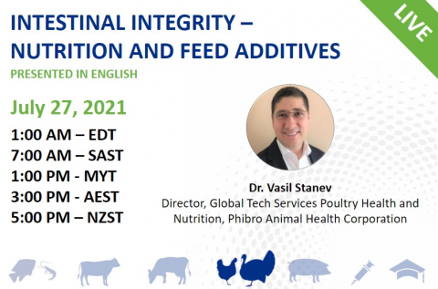 07/27/2021 Intestinal integrity – nutrition and feed additives