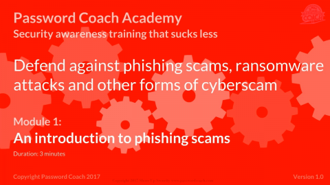 Module 1 - An introduction to phishing scams (P101-1)