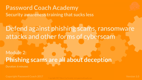 Module 2 – Phishing scams are all about deception (P101-2)