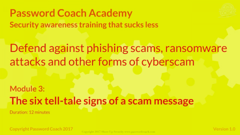 Module 3 – The 6 tell-tale signs of a scam message (P101-3)