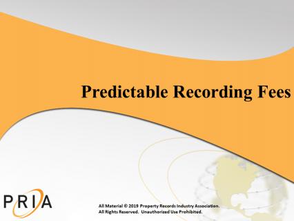 Predictable Recording Fees