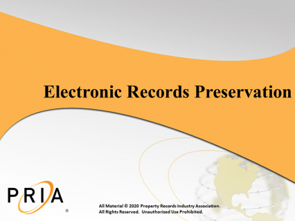 Electronic Records Preservation