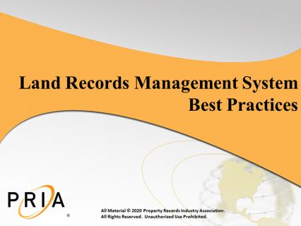 Land Records Management System Best Practices