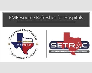 EMResource – Refresher for Hospitals