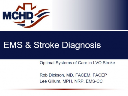 EMS and Stroke Diagnosis with RACE Assessment